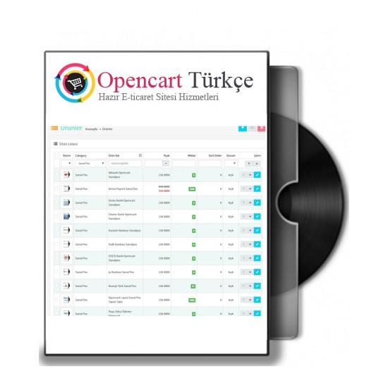 Opencart Hızlı Ürün Düzenleme - Quick Edit