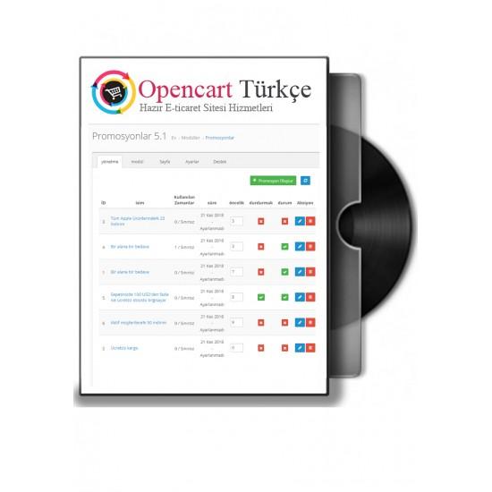 Opencart Promosyon Modülü