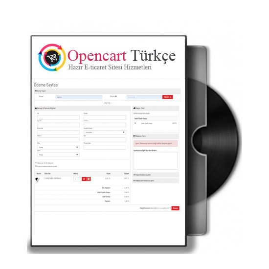 Opencart Tek Sayfa Ödeme Modülü