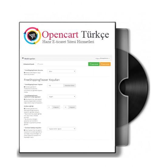 Opencart Ücretsiz Kargo Modülü