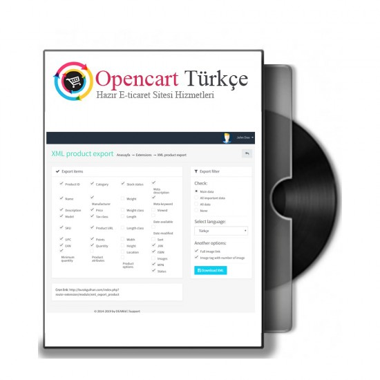Opencart XML Çıktı Modülü