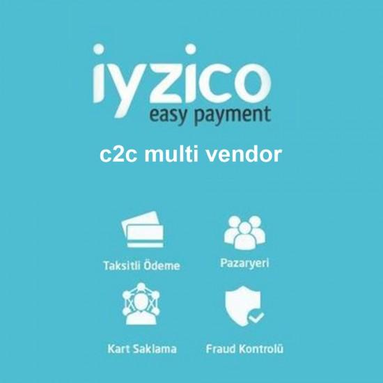 Opencart iyzico c2c Multivendor Pazaryeri Sanal Pos Modülü