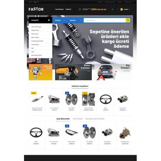 Opencart Araba Parça Satış sitesi