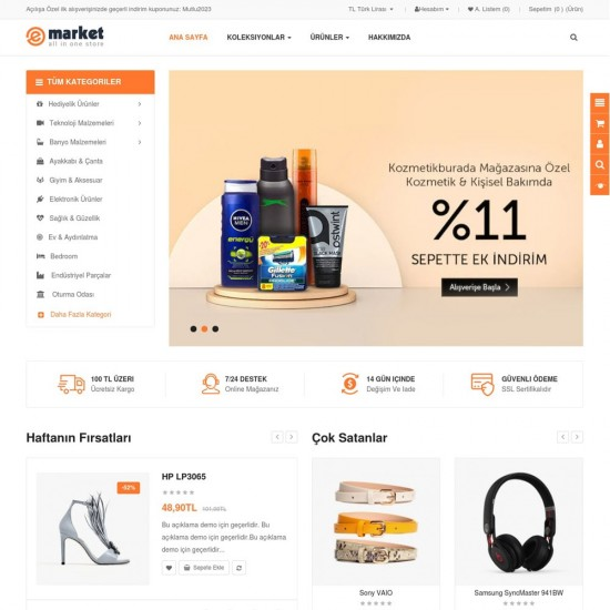 Çoklu Ürün Satış Teması