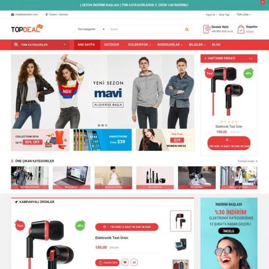 Opencart E-Ticaret Tema