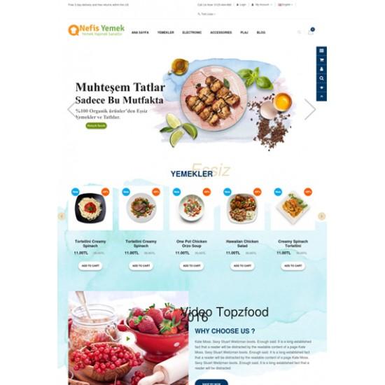 Opencart Yemek - Tatlı Teması