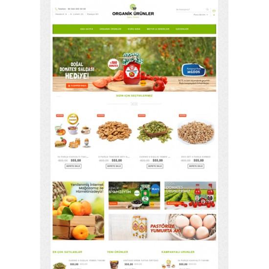 Organik Ürünler Opencart Teması