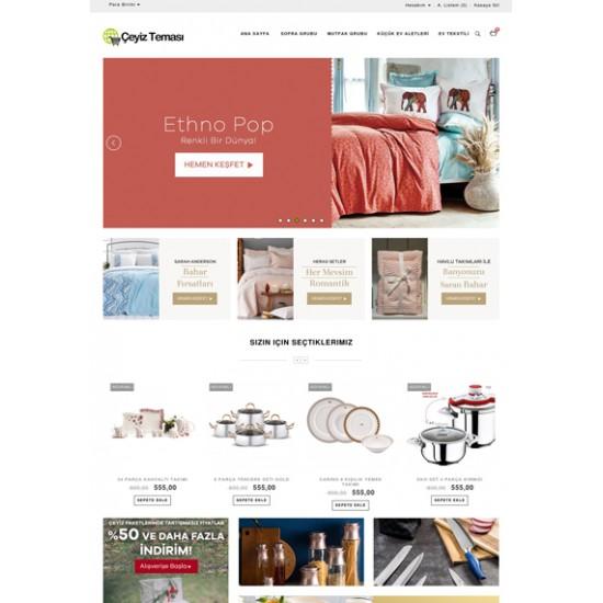 Opencart Tekstil -Çeyiz Teması